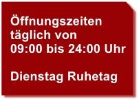 Öffnungszeiten Gasthaus Bockauwirt
